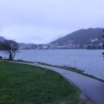 Blick auf St. Moritz vom Innradweg